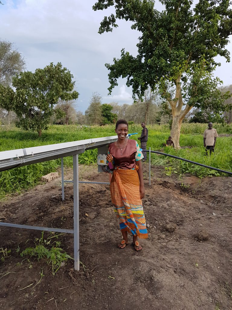 Commercial farming solar water supply